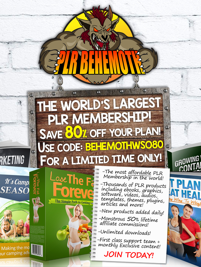 Plr behemoth is here the worlds largest source for plr join plr behemoth is here the worlds largest source for plr join free save 80 off gold platinum fandeluxe Gallery