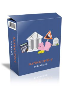 bankruptcy plr articles with private label rights