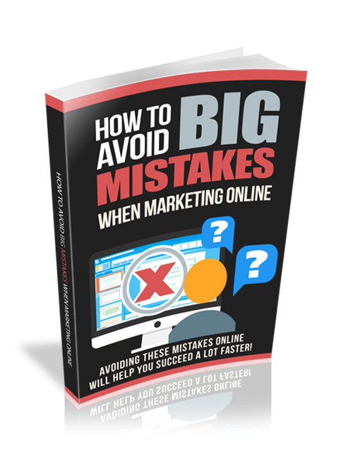 how to avoid big mistakes when marketing online plr ebook with resell rights shows you how to become successful online
