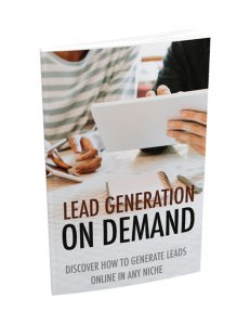 lead generation on demand plr ebook with master resell rights will help you generate leads for your business