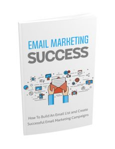 email marketing success plr ebook with master resell rights shows you how to build a powerful list of customers