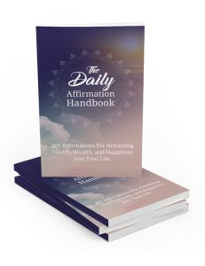 daily affirmation handbook with master resell rights will change your view on life and help you attract more happiness, wealth and prosperity
