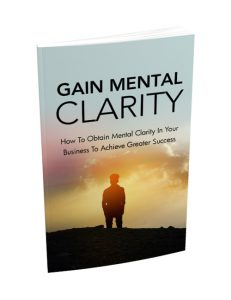 gain mental clarity plr ebook shows you how to adopt a positive mindset and live a better life