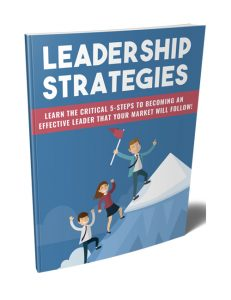 leadership strategies plr ebook shows you how to be an effective leader