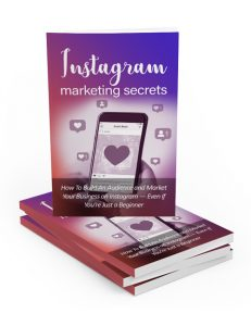 instagram marketing secrets plr ebook shows you the power of building a real business through instagram