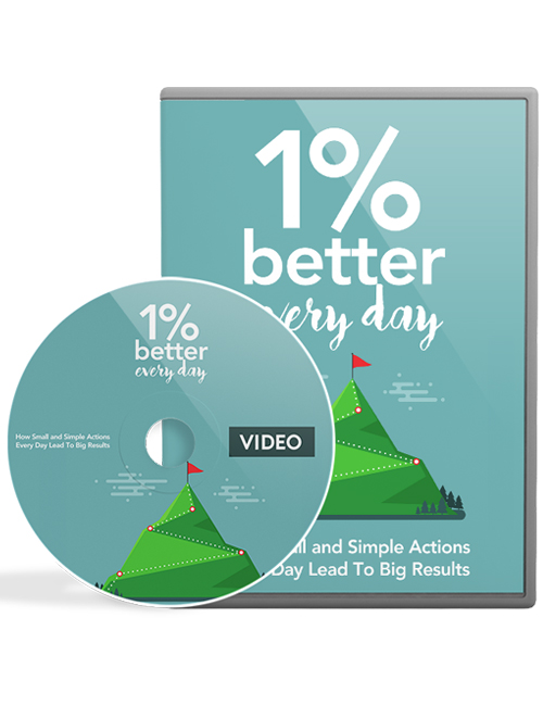 one percent better everyday plr videos shows you the path to personal and professional fulfillment by following the art of Kaizen which means making small changes for bigger rewards