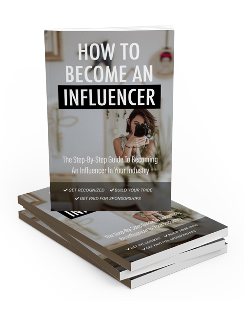 How to Become An Influencer PLR Ebook shows you how to get paid by building a community of followers and leveraging your brand