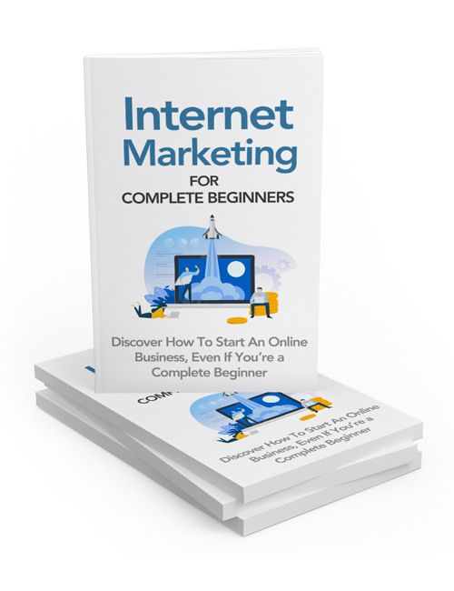Internet Marketing For Complete Beginners PLR Ebook shows you how to start a passive income business online